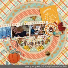 Digital Scrapbook Layout by Jenn Ward using Sweet November (papers, elements, journal cards) from Little Butterfly Wings and Monthly Template Freebie: November '15 by Little Butterfly Wings.  Available at The LilyPad: http://the-lilypad.com/store/Sweet-November-elements.html