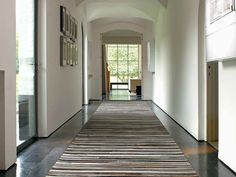 Make a grand statement with a natural hide rug. #CurranFLOOR #CurranHOME