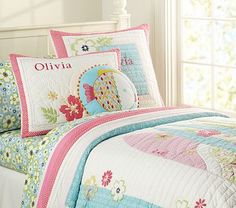 I love the North Shore Quilted Bedding on potterybarnkids.com