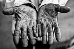 La Habana Cuba - Manos / Hands Centro Habana; this is the b&w edit of an earlier post ... these are the time-worn hands of a Santeria drummer I met in Centro Habana ... We met in the street during one of my photo walks and during our conversation he told me he had played the drums for years for religious ceremonies ... He then lifted his hands to show me what years of playing the drums had done to his hands ... I asked if I could take a shot of them and he kindly obliged ... He's but one…