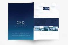 Corporate Bi-Fold Brochure, Investment Banking, Clean Contemporary Design, Blue, White and Gray