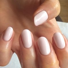 Gelish tan a hide - lovely pinky nude #nail polish / lacquer / vernis, swatch / manicure