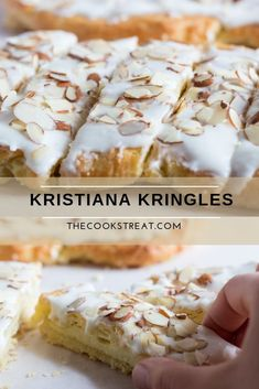 Kristiana Kringles- Kristiana Kringles A light and flaky almond flavored pastry that is quick and easy to make. These kristiana kringles are perfect for the holiday season or any time. Pastry Recipes, Baking Recipes, Cookie Recipes, Dessert Recipes, Bread Recipes, Meatloaf Recipes, Meatball Recipes, Appetizer Recipes, Dinner Recipes
