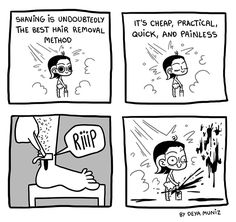 Brutally Honest :: Shaving | Tapastic Comics - image 1