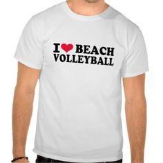 I love Beach Volleyball Shirt #I #love #Beach #Volleyball #sports #heart #summer $25.95