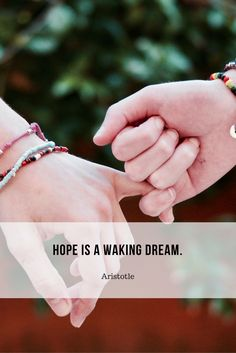 Hope is a waking dream. #quote #sleep