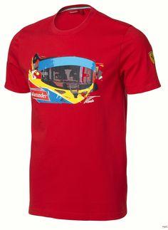 Koszulka dziecięca Ferrari Alonso Visor Tee - Red   FERRARI KIDS   Fbutik   Scuderia Ferrari Collection