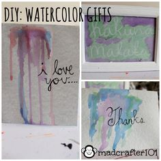 Super easy DIY for watercolors things!