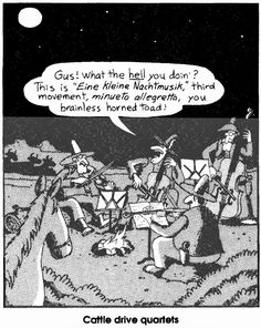 eine kleine nachtmusik | the far side | by: gary larson