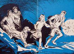 Five Go Adventuring Again (Enid Blyton), Drawing by Eileen A Soper (1943).