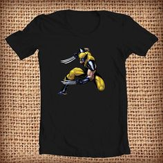 The wolverine cartoon design shirt