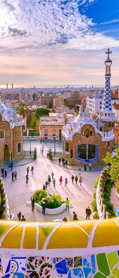 Park Guell, Barcelona, Spain #barcelonaphotos