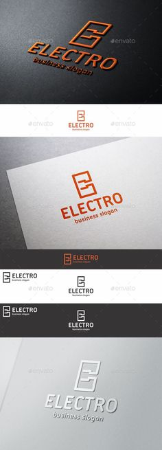 Electric Plug Logo E Letter – An excellent logo highly suitable for electrical and technology businesses: