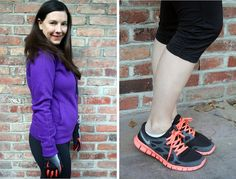 Comfortable and cute workout look from the uber-stylish Glamamom!     Nike Free+ Sneakers