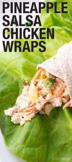 ... | Vegetable pasta salads, Chicken wraps and Pineapple chicken salads