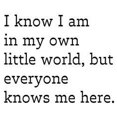 Own world