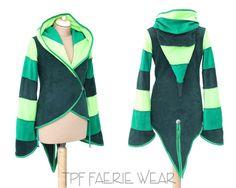 3 Tone fleece 'Azimae' Tail Jacket. 6 stripe von tpffaeriewear