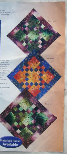 Other quilts with fabrics of mine featured in the magazine.