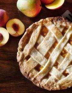 peach mango pie  | www.prettyplainjanes.com