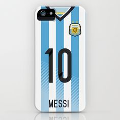 World Cup 2014 - Argentina Messi Shirt Style iPhone & iPod Case by Maximilian San - $35.00