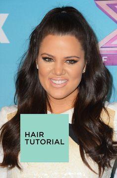 easy hair tutorial inspired by Jennifer Lopez and Khloe Kardashian: