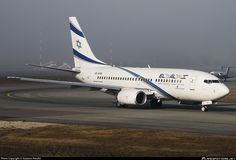 El Al Israel Airlines (IL) Boeing 737-758 4X-EKE aircraft, with the new livery, named ''Nazareth'', rolling at Italy, Milan-Malpensa Int'l Airport (formerly City of Busto Arsizio Airport). 10/12/2015. (The plane broken up).
