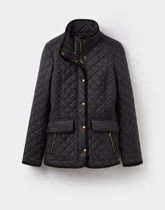 Newdale Black Quilted Jacket | Joules US