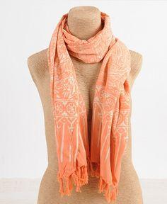 Batik Scarf - Orange