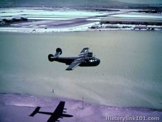"PB2Y-5 ""Coronado"" in flight at Naval Air Station. Honolulu, TH. Sept. 2, 1945"