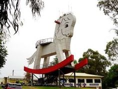 The Big Rocking Horse proudly looks over Gumeracha in South Australia Gallery Website, South Australia, Mount Rushmore, Horses, Mountains, Big, Outdoor Decor, Travel, Viajes