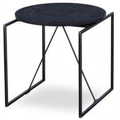 Pinetta Black Marble Side Table