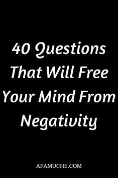 40 Questions That Will Free Your Mind From Negativity – Game Day Quotes Deep Questions To Ask, 100 Questions, Personal Questions, This Or That Questions, Game Day Quotes, Journal Questions, Journal Writing Prompts, Habits Of Successful People, Writing About Yourself