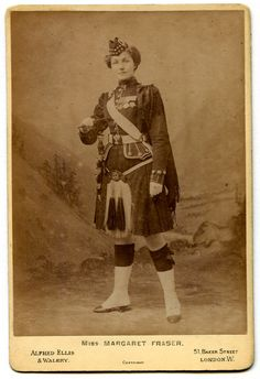 Soldiers of the Queen - Miss Margaret Fraser as Stella D'Aubigny in a uniform of the Gordons