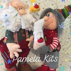 Santa y duende Elf Decorations, Snowman Christmas Decorations, Christmas Party Favors, Decorating With Christmas Lights, Felt Christmas Ornaments, Christmas Bags, Christmas Nativity, Primitive Christmas, Christmas Projects