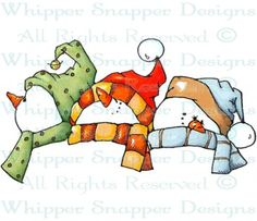 Snowmen Toppers - Snowmen Images - Snowmen - Rubber Stamps - Shop
