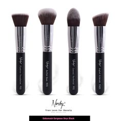 Look what I found at Nanshy.com Gobsmack Gorgeous Onyx Black | Face Makeup Brush Set #nanshy #makeupbrushes