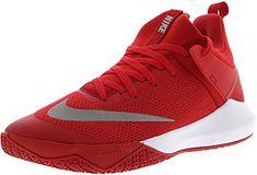 purchase cheap 02ac5 726c0 NIKE Men s Zoom Shift Tb University Red White Ankle-High Mesh Basketball  Shoe - 11M