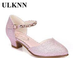 ULKNN Princess Girls Sandals Kids Shoes For Girls Dress Shoes Little High  Heel Glitter Summer Party Wedding Sandal Children Shoe-. 4a2895c1846f