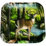 Hunting Buck Dinner Plates - 9in Sq. (8 Pack)