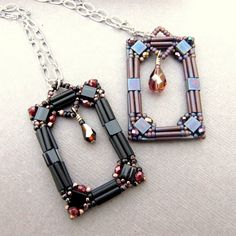 Beaded Projects Using Beads | they use a mix of bugle beads tila beads fire