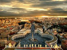 Been here--but my picture isn't half as pretty! (view of Rome from the roof of the Vatican Basilica)