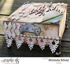 Gorgeous mixed media on this glorious Baby 2 Bride altered box #graphic45