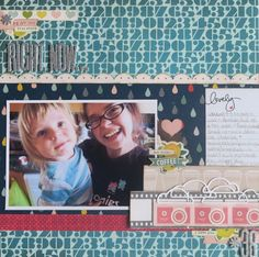 Designing scrapbook pages with strong horizontal lines // scrapbook page by Shimelle Laine