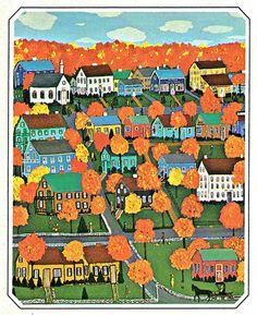 My Puzzles - Autumn Vintage & Modern - New England Autumn 1975