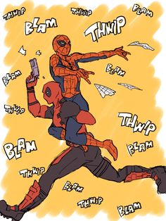 デプスパ漫画詰め [1] Spideypool Spiderman Deadpool Funny Cute
