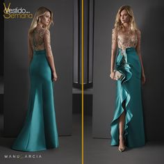 Madrinas con estilo y muy originales con nuestra colección #LoveSewing. #VestidodelaSemana #Turquesa #Madrina #Madrinasdelargo #Vestidodefiesta #Atelier #Couture #Eventdress #Madredelanovia #Tattoo #EfectoTattoo #ManuGarcia #ManuGarciaCostura Lovely Dresses, Elegant Dresses, Formal Dresses, Satin Dresses, Lace Dress, Western Dresses, Quinceanera Dresses, Minimal Fashion, Dress Patterns