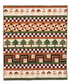 Santa Row Quilt Pattern Download by Mari Martin available now at connectingthreads.com for just $4.99 »