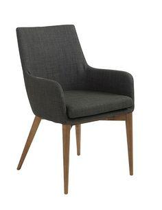 Schlicht, stilvoll und bequem - Stuhl im Lederlook in Grau ...