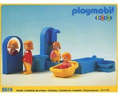 Bathroom Set 6614 by Playmobil. $19.99. item theme 6614 123  Bathroom Badezimmer Released;1990/09  Status; Discontinued 1996  Figures; 3