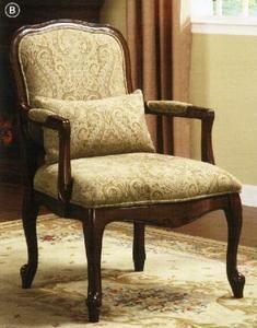 Waterville Classic Dark Cherry Accent Chair